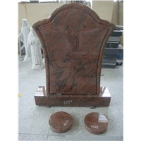 German style multicolor red granite gravestones