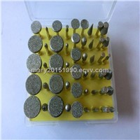 Electroplated Diamond / CNB Grinding Units of Pins, Head, Bits and Mounted Point for stone Engraving