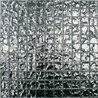 PF106 Silver chrome mirror mosaic glass mosaic decorative tile