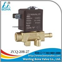 "BONA Valve new product for welding machine Female 1/8""*6.5mm Brass Solenoid Valve"