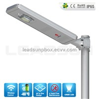 Bluetooth Control Aluminum Lamp Body All In One Solar Street Light