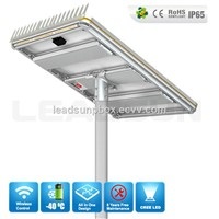 40w All in One Solar LED street light,Integrated solar street light lithium battery
