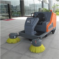 Marshell lead battery electric sweeping vehicle with roof