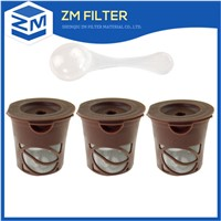 ECO-friendly 304 stainless steel mesh reusable coffee cup filter for k-cup brewers