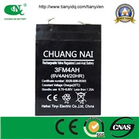 High capacity 6v4ah  lead acid  battery for bench /floor/platform scales