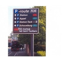 High Definition Scrolling Outdoor Digital LED Traffic Message Signs Installed on Highways