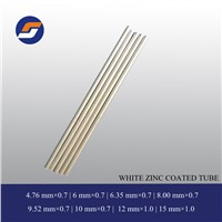 white zinc coating double layer welded low carbon tube made in China