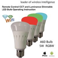 WiFi RGB+ Dimming Color Smart LED Bulb