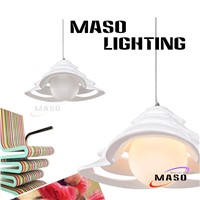 Indoor Multi-layer Cap Resin Shade Residential Lighting Pendant Lamp Warm White CCT MS-P1032