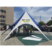 Star tent with aluminum pole