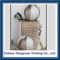 artwork brushed surface hollow large hollow steel balls