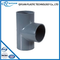 5 inch four way grey color tee pipe fitting