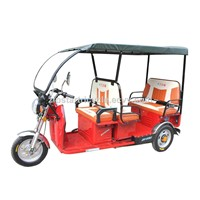 48V800W Passenger Electric Rickshaw with Roof / Battery 3 Wheeler