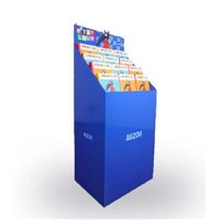 Flat Packed Cardboard Free Standing Display Units, Cardboard Brochure Display Stand