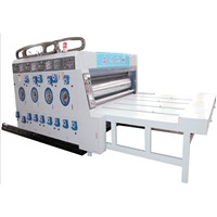 Pizza carton box flexo 2 color printer slotter machine