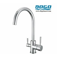 304 stainless 3in1 taps tri-flow kitchen faucet