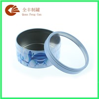 Custom Round Tin Box with  PVC Window