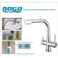 SUS304 Stainless steel TWO handle 3 way drinking water faucet