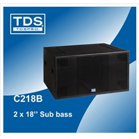 Super Subwoofer Speaker Dual 18inch Sub Bass C218B For Pro Audio Subwoofer Speaker