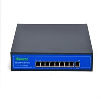 Cheap price 100M 15.4 w poe switch 8 port internal power switch poe