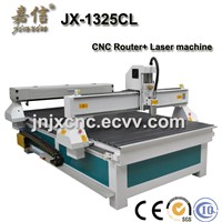 JX-1325CL JIAXIN CNC Router and Laser cutting engraving together machine