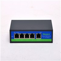 Made in China wholesale Managed 4 port 100Mbps Enternal Power Supply PoE Switch