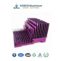 Customized CNC machining extruded aluminium heatsink profile