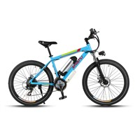"26"" Mountain type electric bicycle with water bottle shape Lithium Battery"