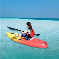 Single plastic sit on top fishing kayak