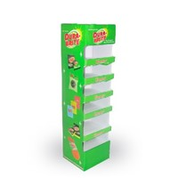 Trade Show Corrugated Display Stands, Cardboard Floor Display for Cleaning Supplies, Carton Display