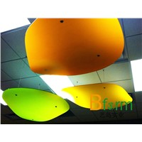 Translucent architectural resin panel, ideal for partition, ceiling feature, etc
