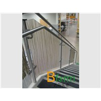 translucent resin panel of fine interlayer, ideal for stair partition