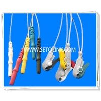 5 Leads Snap, IEC Standard ECG/EKC Leadwires for Patient Monitor