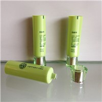 Plastic tube with acrylic cap for cosmetic packaging