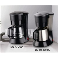6 cups drip coffee maker with stainless steel thermos jug