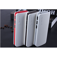 MIQ 20000mah 3 USB power bank with LED lamp for iphone samsung charging