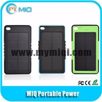 MIQ 6000MAH solar power bank mobile phone charger made in China