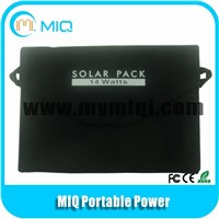 folding solar panel solar charger with DC and USB charger for solar lamp and batteries