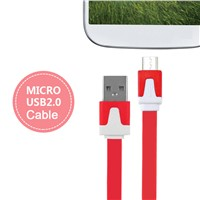 2015 Colorful Flat 1/2/3M Micro USB Cable