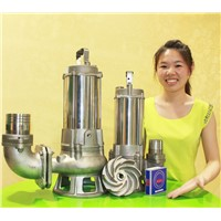 2015 new product stainless steel submersible sewage water pump with vortex impeller