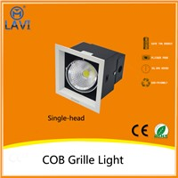 3 years warranty alimunum COB grille light 1 head/2 head/3 head square ceiling light