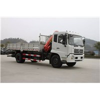 Dongfeng 4x2 truck mounted crane 8tons for sale
