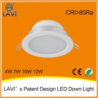 Top sale LED Downlight 4w 7w 10w 12w 3 colors in one fitting led downlight with CE ROHS