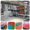 Plastic synthetic resin glazed roofing tile/roofing sheet extrusion machine production line/plant