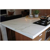 Chemical and Stain Resistant Quartz Stone Polished Surfaces Kitchen Tops