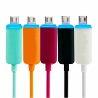 Colorful Led Light Sync Charger Micro USB Cable for Android Smart phones
