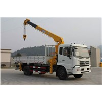 Dongfeng 4x2 truck mounted crane 8tons with good price for sale