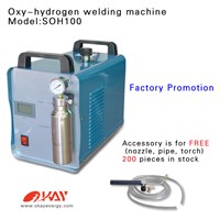 Free Shipping portable HHO oxyhydrogen gas generator for welding,sealing,flame polishing