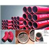 Alumina ceramic abrasive lined pipe