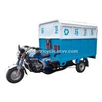 200cc Garbage Motor Tricycle for Sanitation Use with Hydraulic Dumper
